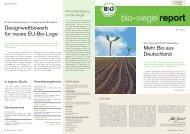Bio-Siegel-Report 1/2008