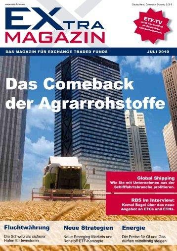 Das comeback der agrarrohstoffe - EXtra-Magazin