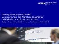 Deutsche Börse Listing: Welcome to Your Future - Xetra