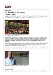 Agrar-Spekulation: Das Geschäft mit dem Hunger ... - Handle fair!