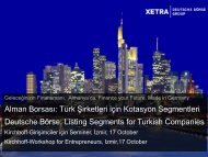 Listing Segments for Turkish Companies