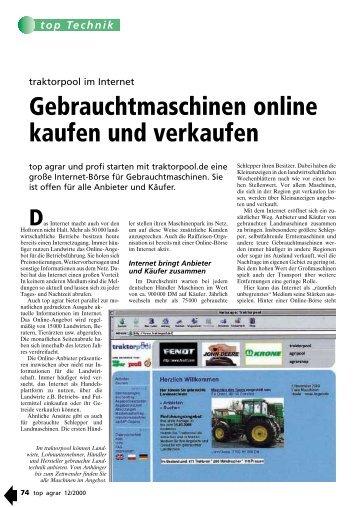 Gebrauchtmaschinen online kaufen und verkaufen - traktorpool.de