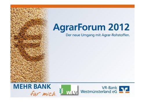 Präsentation AgrarForum 2012