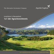 1 x 1 der Agrarinvestments - Dr. Theissen GmbH