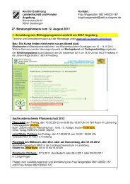 27. Beratungshinweis vom 12. August 2011 - Amt für Ernährung ...