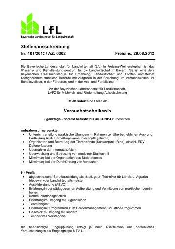 Stellenausschreibung - Agrarbildungszentrum Landsberg am Lech