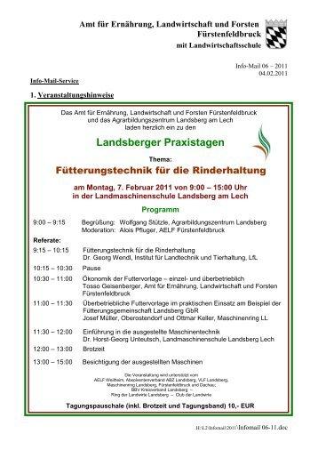 Landsberger Praxistagen - Amt für Ernährung, Landwirtschaft und ...