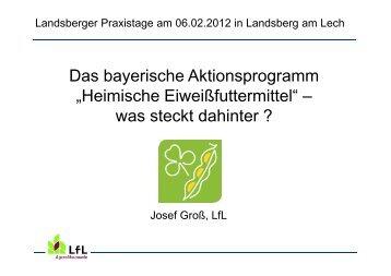 Heimische Eiweißfuttermittel - Agrarbildungszentrum Landsberg am ...