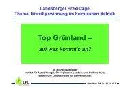 Top Grünland – - Agrarbildungszentrum Landsberg am Lech