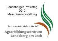6,00 m Beschreibung - Agrarbildungszentrum Landsberg am Lech