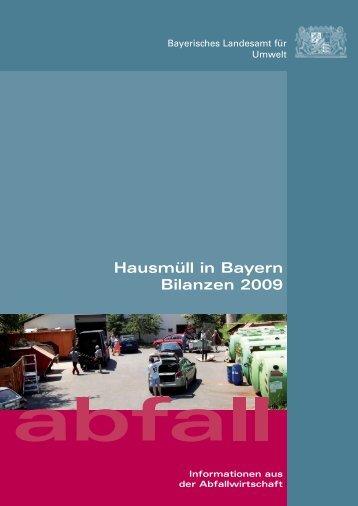 Bilanzen 2009 - Abfallbilanz 2010 - Bayern