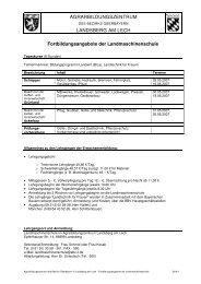 Zum Lehrgang - Agrarbildungszentrum Landsberg am Lech