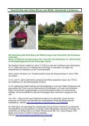 Geschichte des Ortes Brunn am Wald, Gemeinde Lichtenau