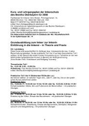 Kurs- und Lehrgangsplan der Imkerschule des Bezirks Oberbayern ...