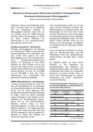 Grundwasserschutzberatung Nord Aktuelles zur Umsetzung der ...