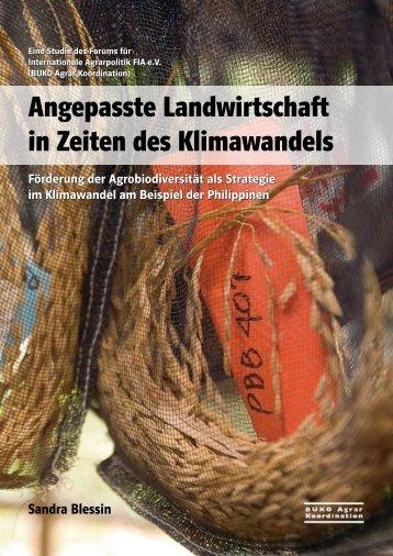Angepasste Landwirtschaft in Zeiten des Klimawandels - Agrar ...