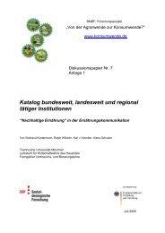 Katalog bundesweit, landesweit und regional tätiger Institutionen
