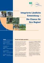 Integrierte Ländliche Entwicklung – Die Chance für Ihre Region!