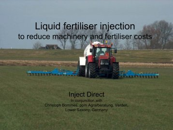 Inject Direct - Controlled Traffic Farming