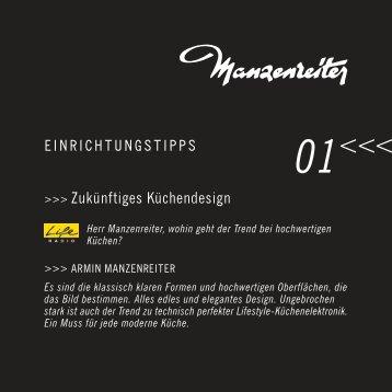 EINRICHTUNGSTIPPS >>> Zukünftiges Küchendesign - Manzenreiter