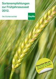 Sortenempfehlungen zur Frühjahrsaussaat 2012. - BayWa AG