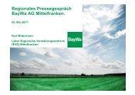 Sparte Technik. Ausblick 2011 - BayWa