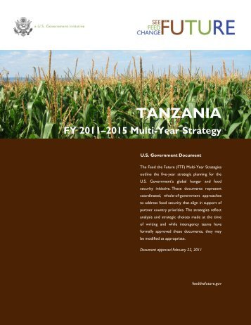 TANZANIA FY 2011–2015 Multi-Year Strategy - Feed the Future