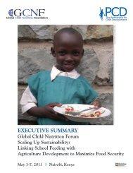 EXECUTIVE SUMMARY - Global Child Nutrition Foundation