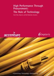 The Role of Technology High Performance Through Procurement: