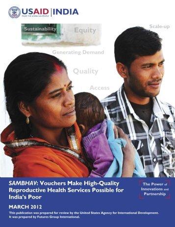 Sambhav Voucher Scheme Report - SAMBHAV ... - USAID.gov
