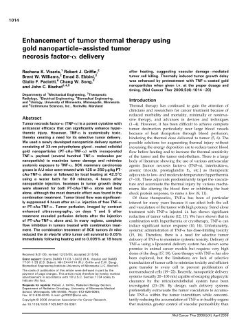 Enhancement of tumor thermal therapy using gold ... - CytImmune!