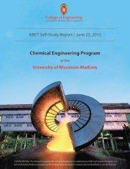 Chemical Engineering Program - UW-Madison CBE Assessment ...