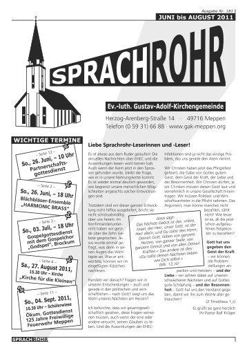 aus München zu Gast in der Gustav-Adolf-Kirche Vorschau