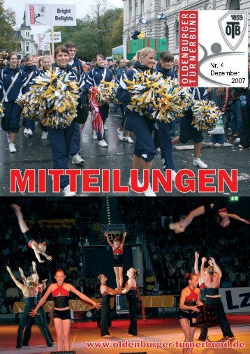 OTB-Mitteilungen 04/2007 - Oldenburger Turnerbund