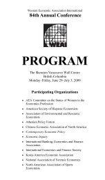 WEAI Program 2009 - Western Economic Association International