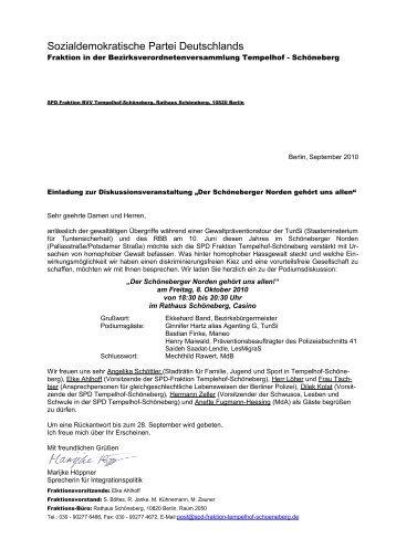SPD Fraktion BVV Tempelhof-Schöneberg, Rathaus Schöneberg ...