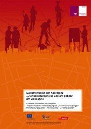 Dienstleistungen ein Gesicht geben - Dienstleistungsmetropole Berlin