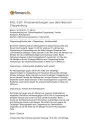 POL-CLP: Pressemeldungen aus dem Bereich ... - Firmendb