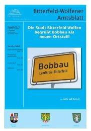 Bitterfeld-Wolfener Amtsblatt - Stadt Bitterfeld-Wolfen