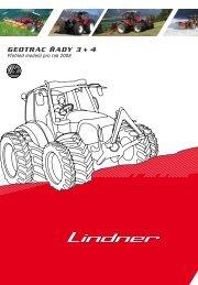 GeOtrac řady 3 + 4 Přehled modelů pro rok 2008 - Lindner