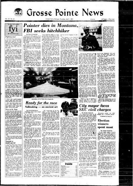 Pointer dies in Montana •> FBI seeks hitchhiker - Local History ...