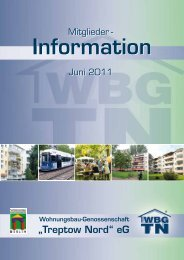 """Mitglieder - Wohnungsbau-Genossenschaft """"Treptow-Nord"""" eG"""
