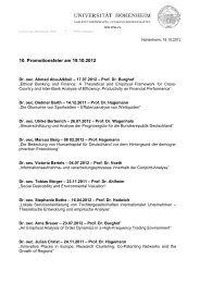 Übersicht der Promovierten - Universität Hohenheim