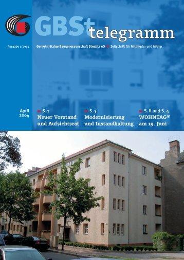 Wir stellen vor - Gemeinnützige Baugenossenschaft Steglitz eG