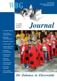 31. Ausgabe, Juni 2010 - Wohnungsbaugenossenschaft Eberswalde