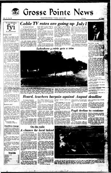 I Grosse Pointe News - Local History Archives