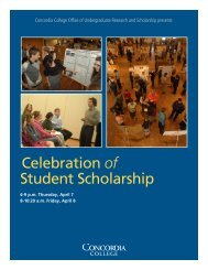Celebration of Student Scholarship - Concordia College
