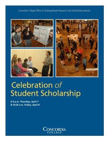 Celebration of Student Scholarship - Concordia College