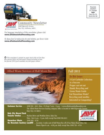 Fall 2011 - Allied Waste Services of Half Moon Bay