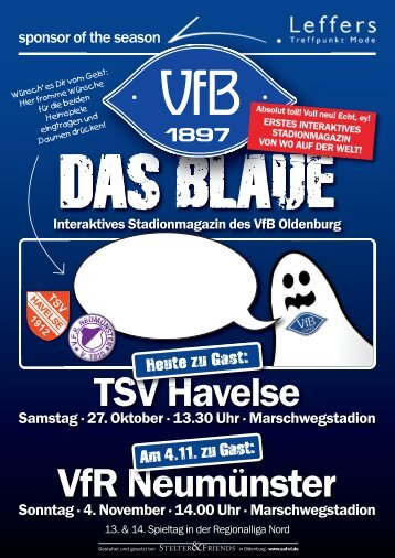 Das Blaue - Saison 2012/2013 #7 & #8 - VfB Oldenburg